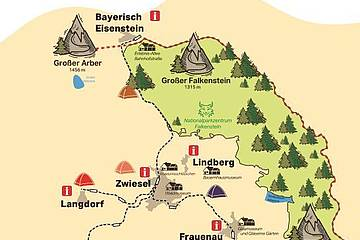 Camping in der Ferienregion